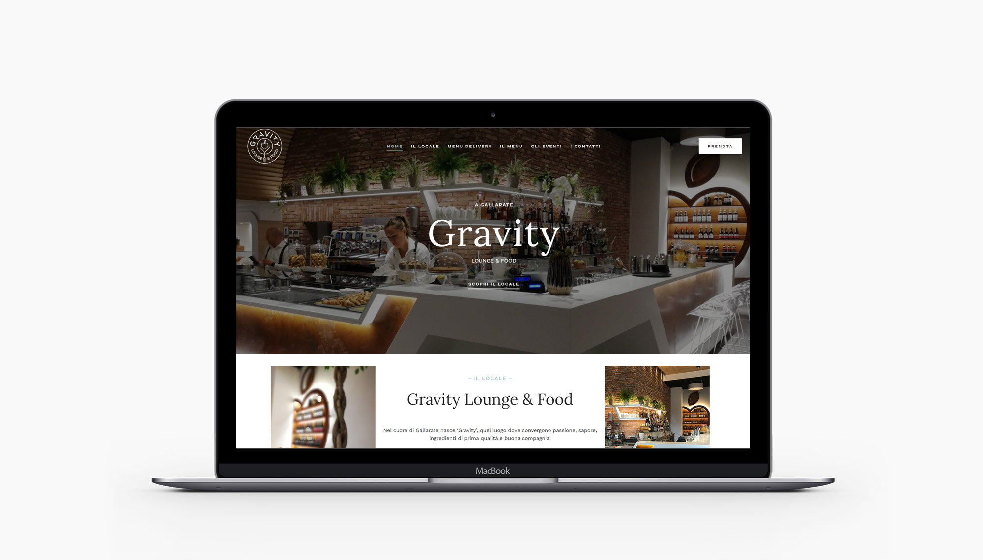 Gravity lounge gallarate web site portfolio iaiastyle
