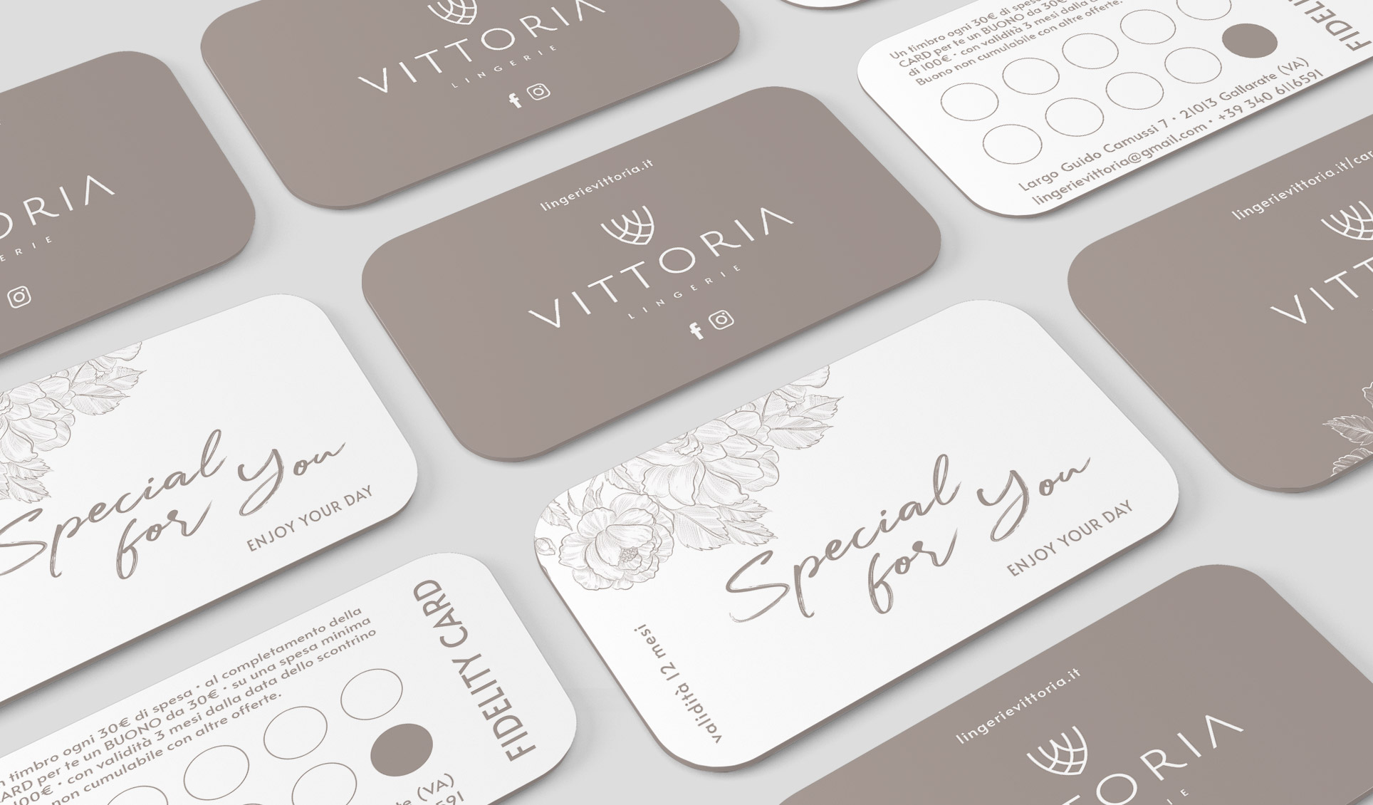 Lingeria Vittoria Gallarate Gift e Fidelity Card